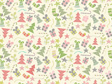 Faded Christmas Seamless Pattern.