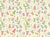 Faded Christmas Seamless Pattern.