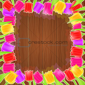 Bright Tulip Flower Frame