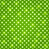 Shiny Green Seamless Polka Dot Pattern