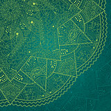 Abstract Dark Green Lace