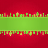 Red Green Christmas Background Card