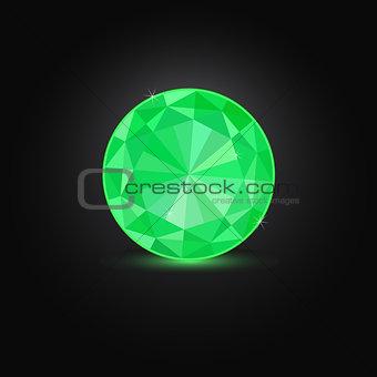 Green Round Emerald