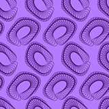 Purple Abstract Geometric Seamless Pattern