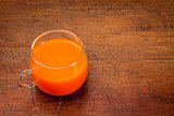 cup of carrot juice