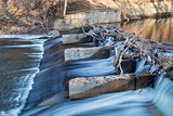 old river dam on Poudre River
