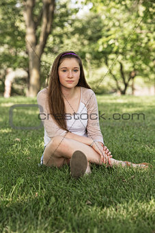 Calm Teen Sitting