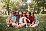 Laughing Teens Outdoors