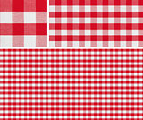 Seamless picnic pattern 1500x1500 with samples. Good for red che