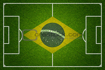 Brazil soccer or football pitch top view