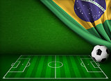 Soccer world cup in Brazil concept background