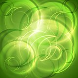 Green shiny abstract backdrop