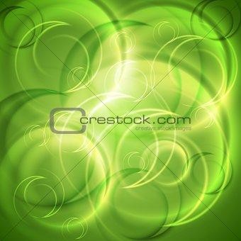 Green shiny abstract backdrop