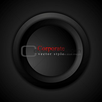 Abstract black circle vector background