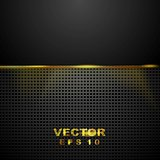 Dark tech perforated background with glowing light