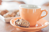 Coffee break with cereal cookies