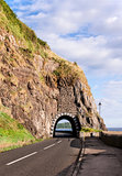 Coast road with tunnel, Northern Ireland