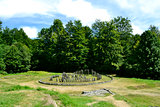 The ruins of Sarmizegetusa Regia, the capital of the Dacian king