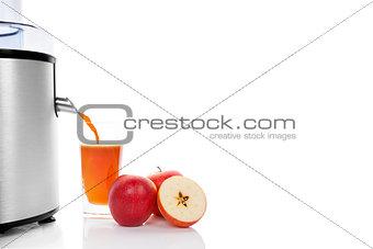 Fresh apple juice.