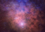 Far being shone nebula and star field