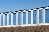 Beach cabins (Saint-Gilles-Croix-de-Vie in France)