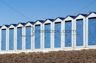 Beach cabins (Saint-Gilles-Croix-de-Vie in France)