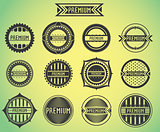 Set of promotion sale symbol stamps vector