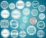 Set of promotion sale symbol stamps vector
