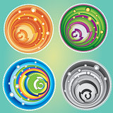 swirly design shape vector texture