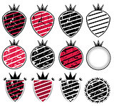 grunge texture badge with stripes illustration