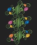 flower meadow decorative vector background