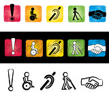 handicap sign illustration