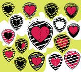 textured broken heart romantic symbol
