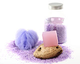 lavender bar soap and salt