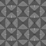 Design seamless monochrome striped pattern
