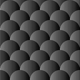Design seamless monochrome sphere pattern