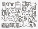 doodle medical background