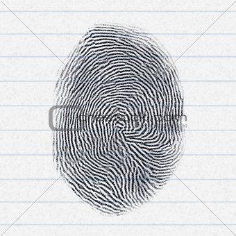 fake finger print