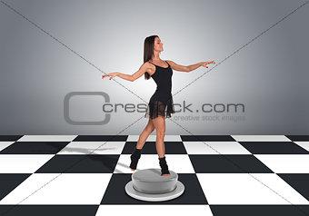 Beautiful dancer dancing