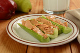 Celery sticks and peanut butter