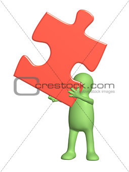 3d puppet with puzzle