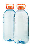 Two big plastic water bottles
