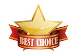 best choice award graphic sign