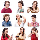 People listening