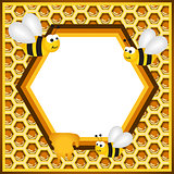 Flying Bees in a Honeycomb Frame