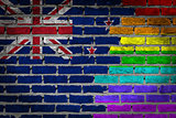 Dark brick wall - LGBT rights - New Zealand