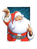 Santa Claus with clock