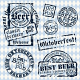 set of beer stamps