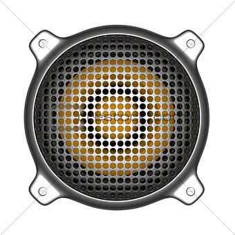 3d metal speaker with grill sound system deejay DJ tools