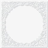 Paper floral frame. Vector illustration